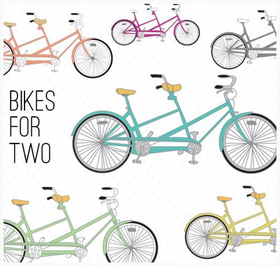 Bicycle built for two clip art. Suhweet..