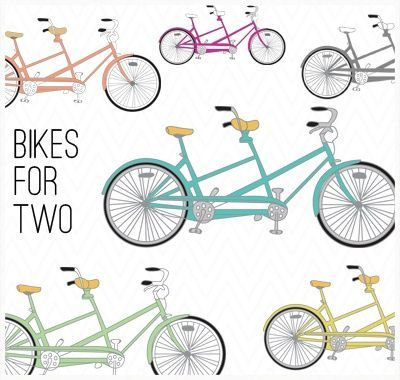 Bicycle built for two clip art. Suhweet. / design concepts.