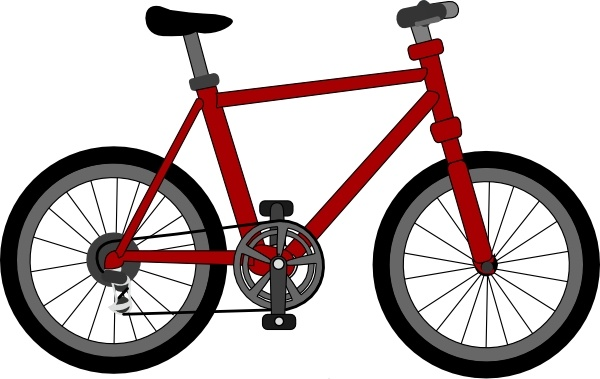 Lescinqailes Bicycle clip art Free vector in Open office drawing svg.
