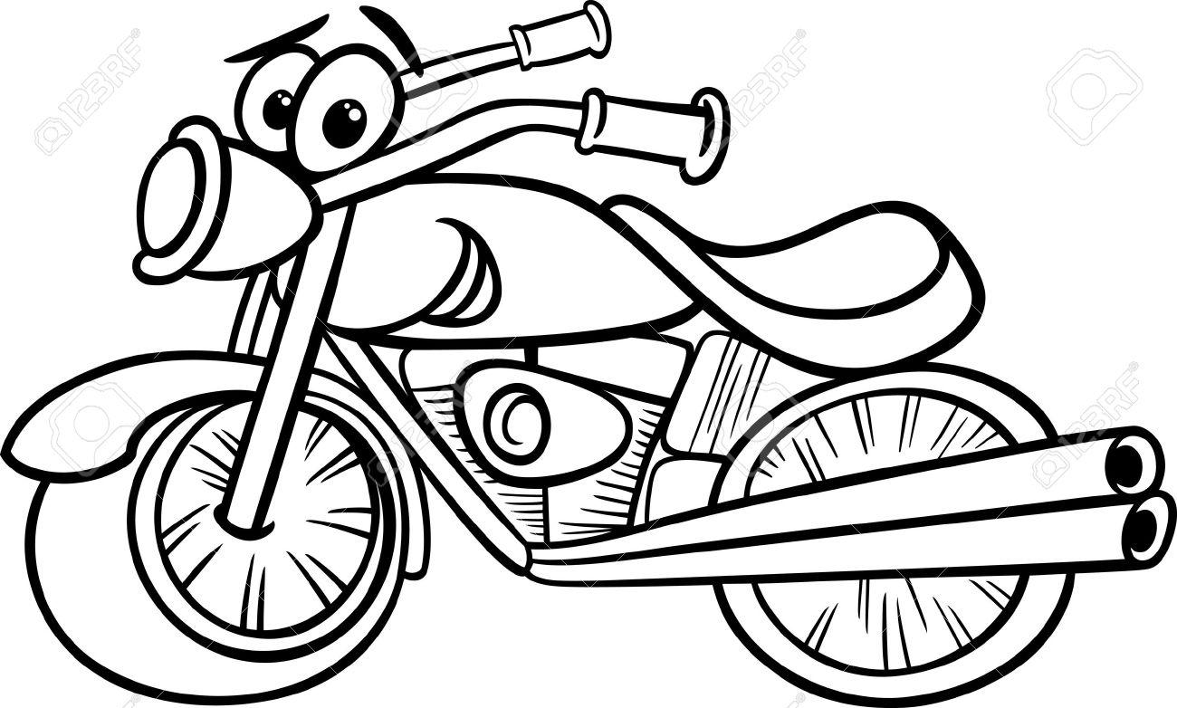 Funny black and white Motor Bike Vehicle.