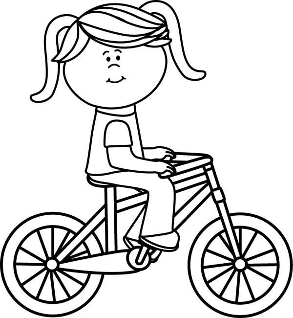 Girl Riding a Bicycle.