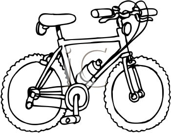 63+ Bicycle Clipart Black And White.