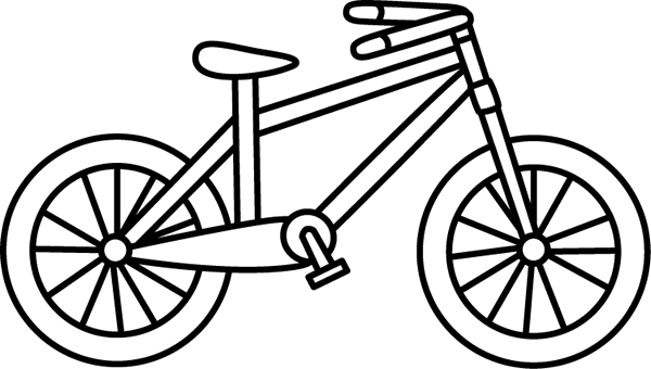Black and White Bicycle.