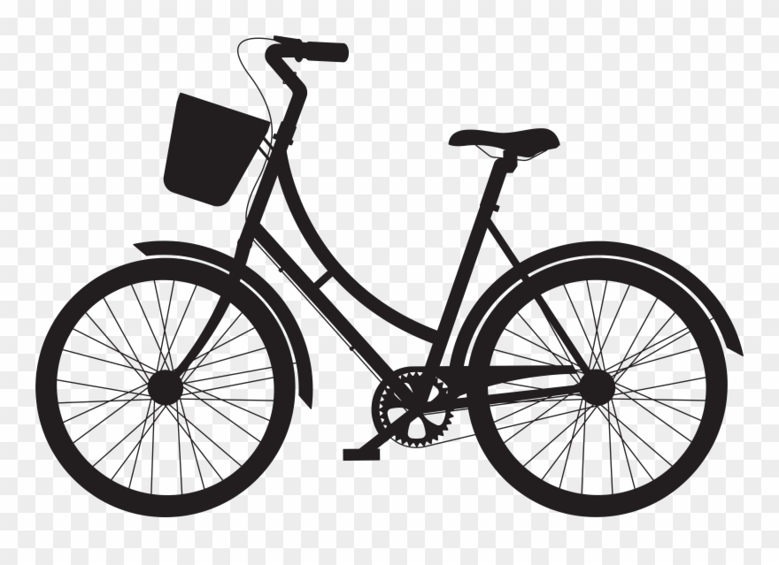 Picture Free Library Bike Transparent Basket Clipart.
