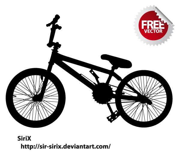 Free Bicycle Silhouette Vector.