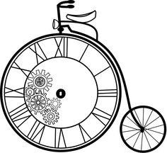 Vintage Bicycle Large A4 Instant Digital Download by CreatifBelle.