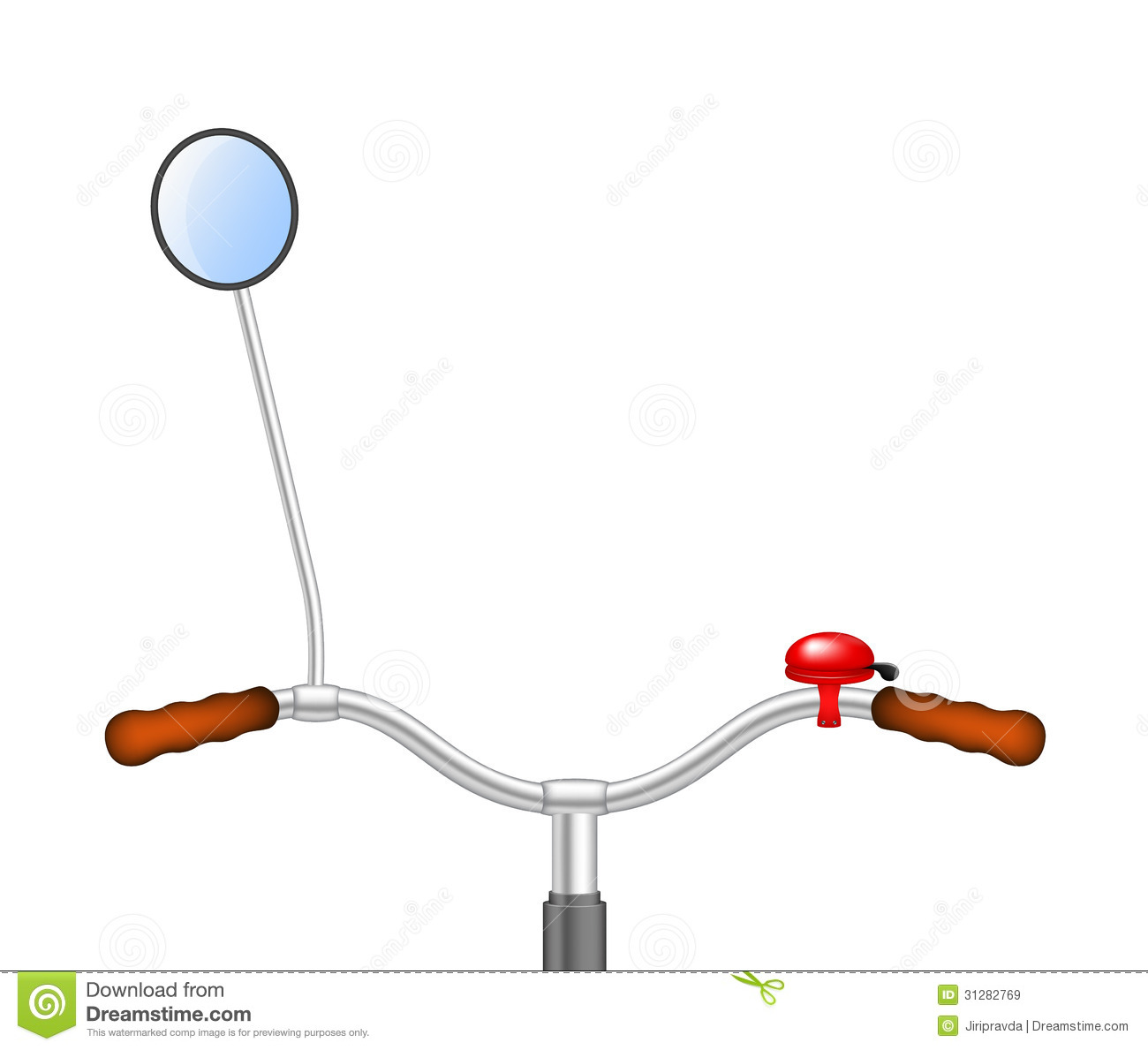 Bicycle basket and handle bars head on clipart.