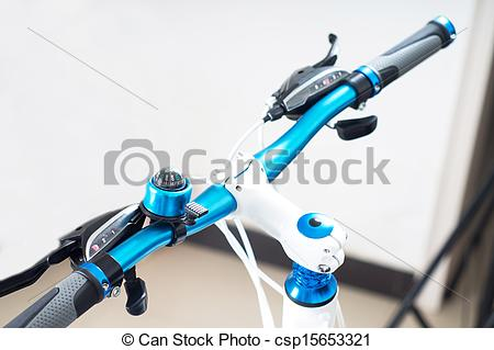 Stock Photo of Mountain bike handlebar.