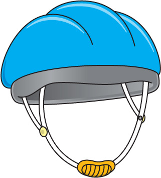 Bicycle Helmet Clipart.