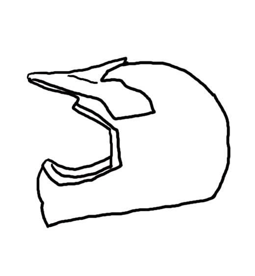 Dirt Bike Helmet Clipart.