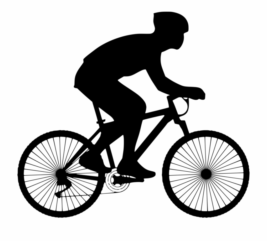 Bicycle Clipart Cycling Sport Person On Bicycle.