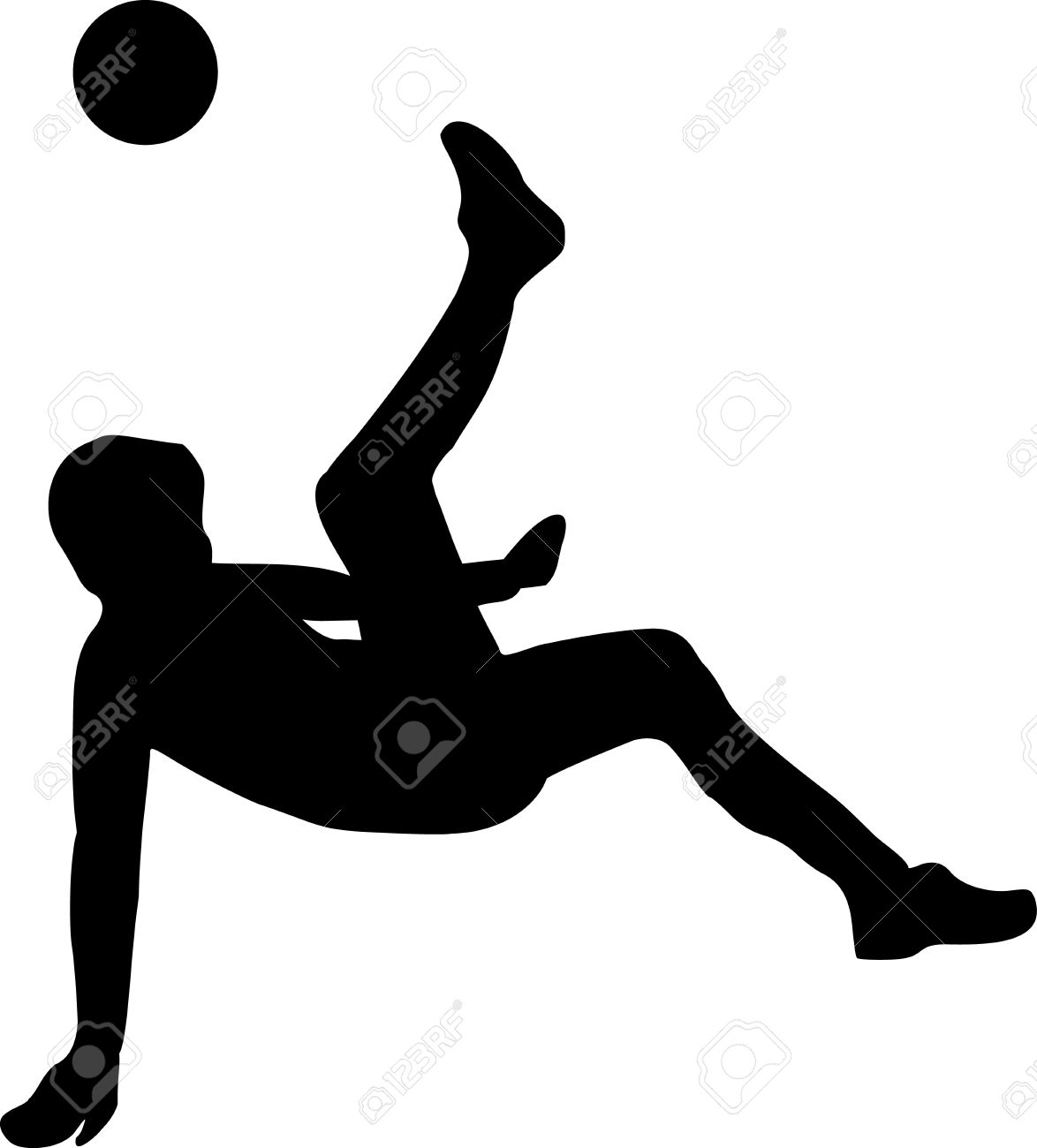 Soccer Player Bicycle Kick Royalty Free Cliparts, Vectors, And.