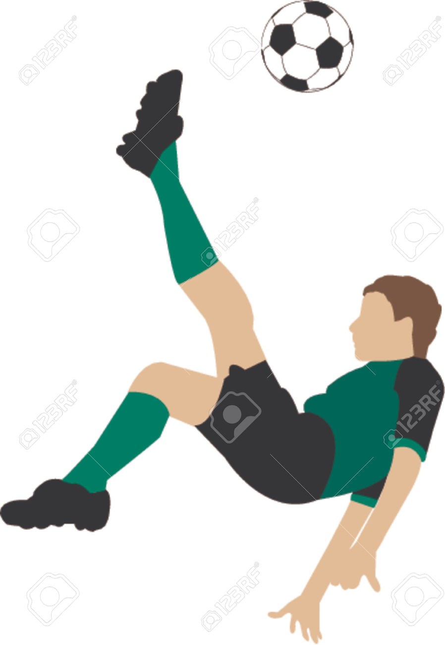 Bicycle Kick Illustration Royalty Free Cliparts, Vectors, And.