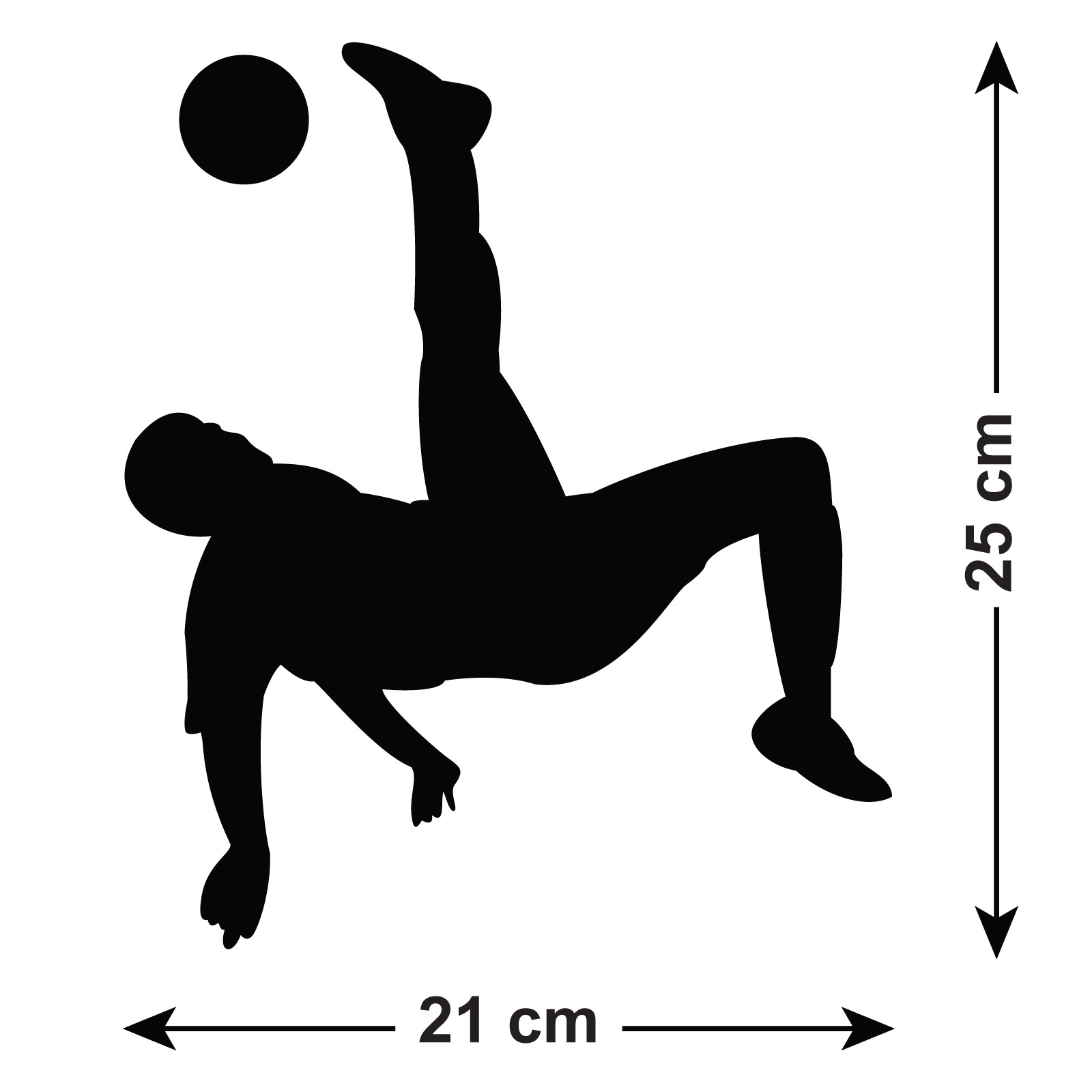 Silhouette boys soccer bicycle kick clipart.