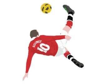 Wayne rooney bicycle kick clipart.