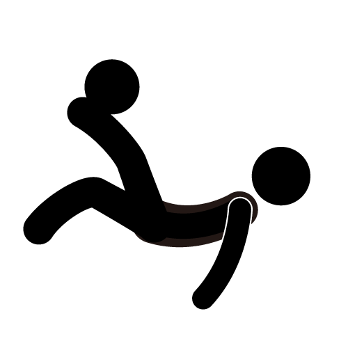 Bicycle kick clipart.