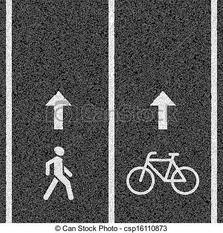 Bike lane clipart.