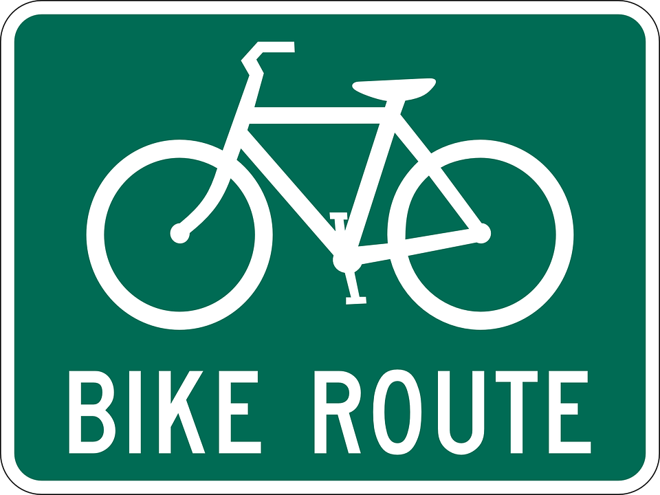 Cycle path clipart #1