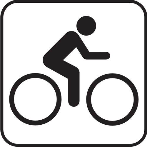US National Park Maps pictogram for bicycle lane vector image.