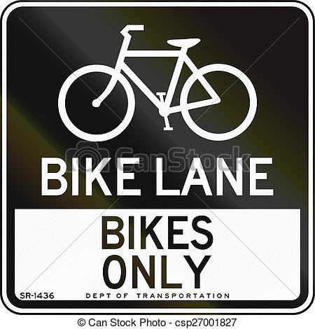 Clip Art of Bike Lane.