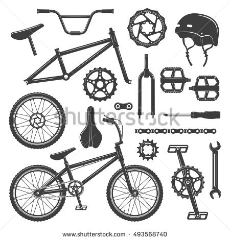 Bicycle Parts Stock Photos, Royalty.