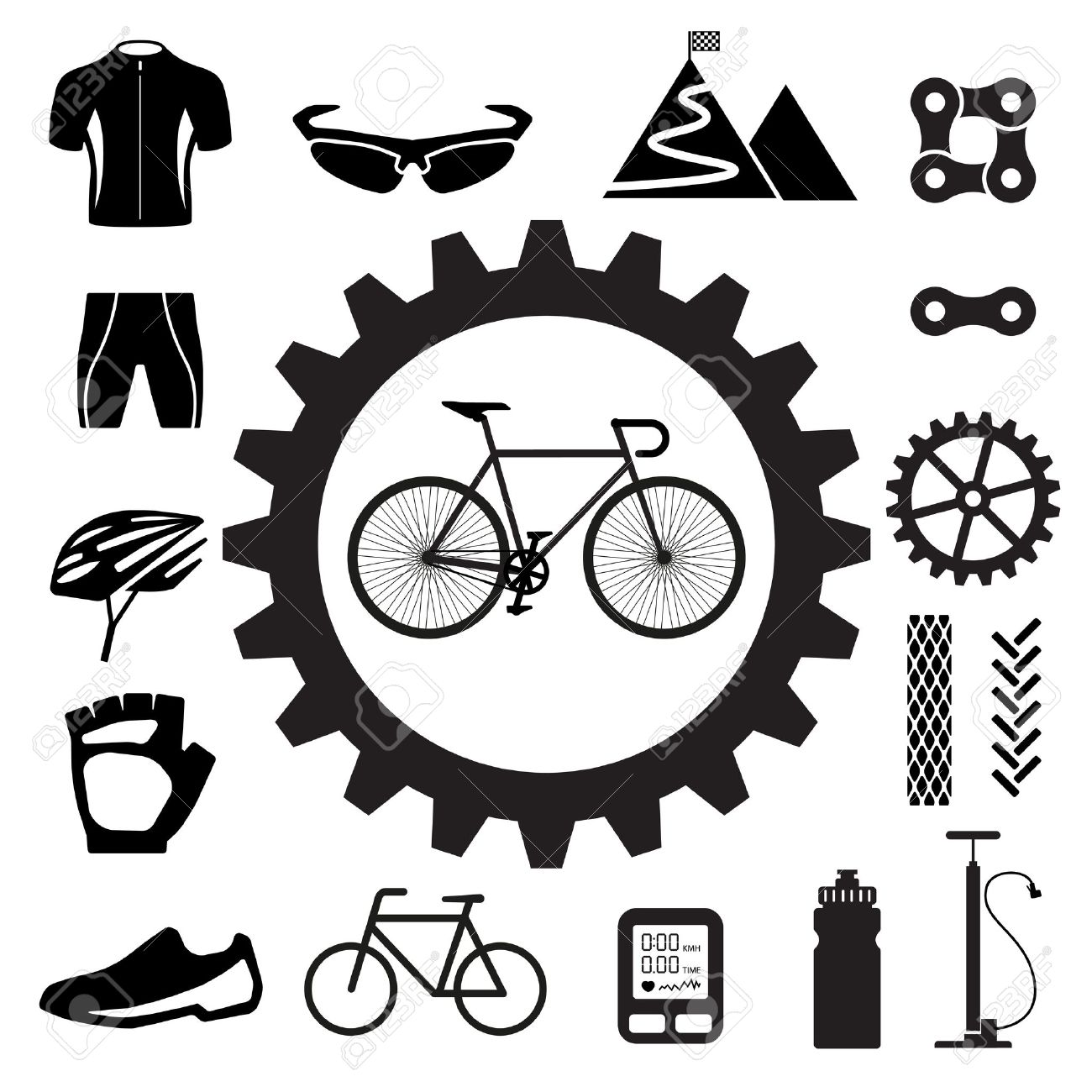 2,651 Bike Parts Stock Illustrations, Cliparts And Royalty Free.