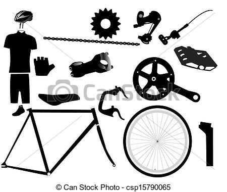 Clip Art Bicycle Parts Clipart.