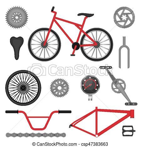 Parts of BMX bike off.