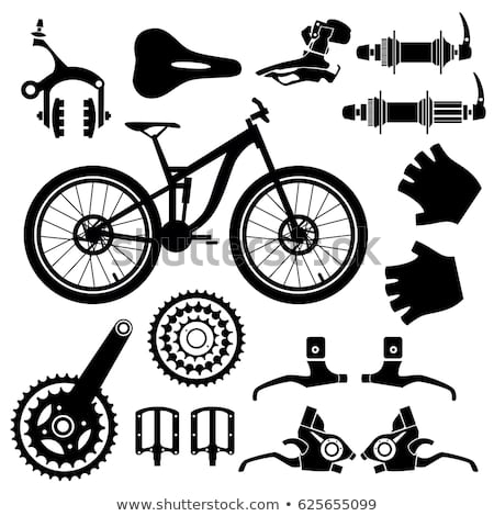 Vector Images, Illustrations and Cliparts: Bicycle parts. Vector set.