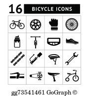 Bike Parts Clip Art.
