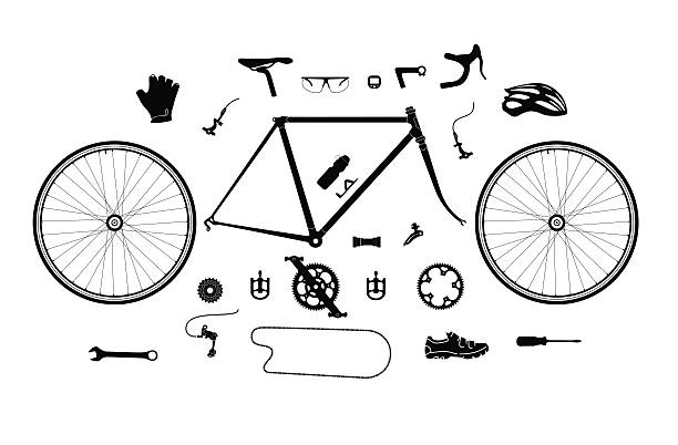 Best Bicycle Parts Illustrations, Royalty.