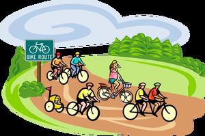 Bike path clipart.