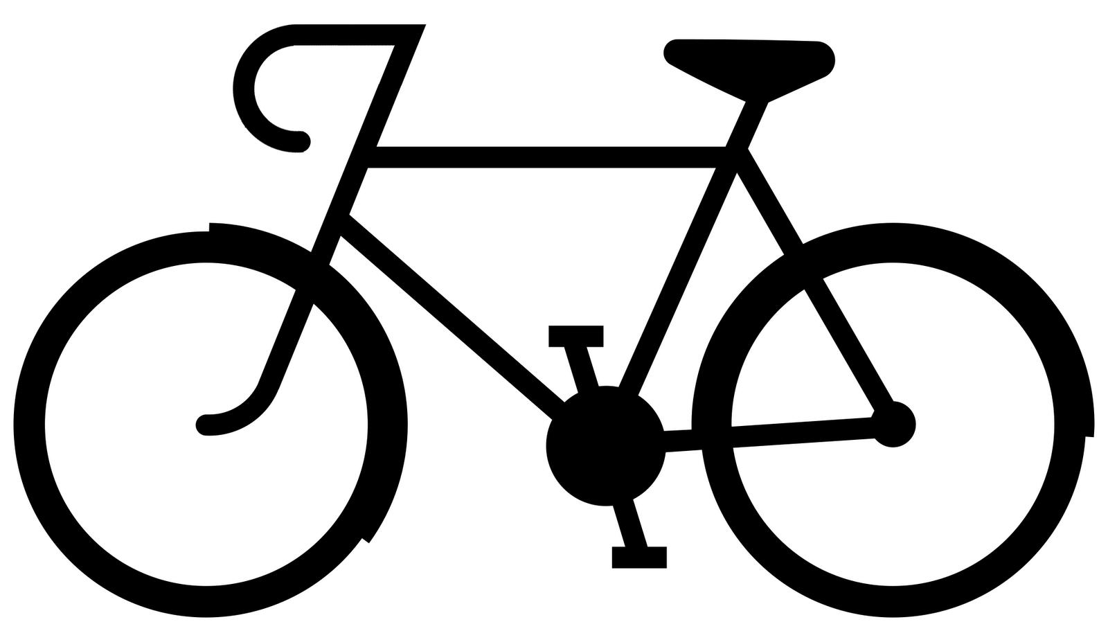 Bike clipart simple.