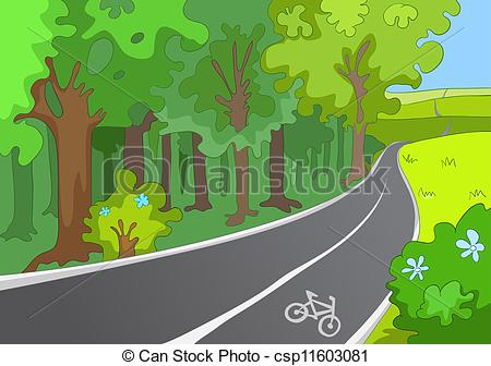 Bicycle path Clipart Vector Graphics. 706 Bicycle path EPS clip.