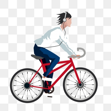 Ride On A Bicycle PNG Images.