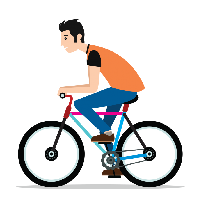 Riding Bicycle PNG.