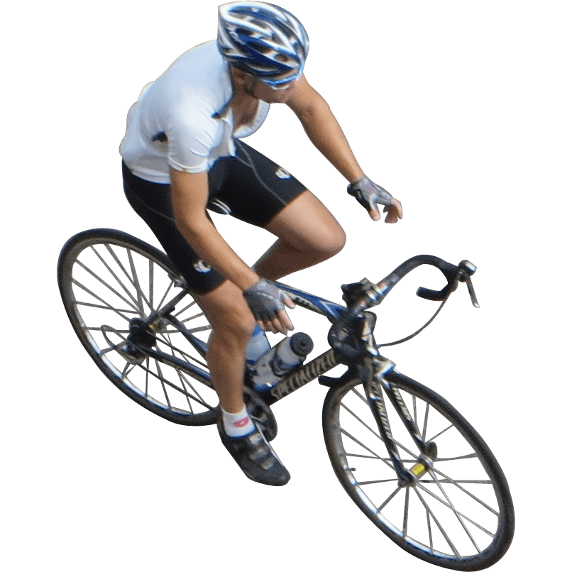 Cyclist Top View transparent PNG.