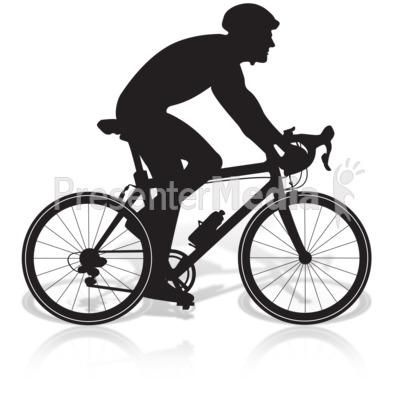 Bicycle Man Riding.
