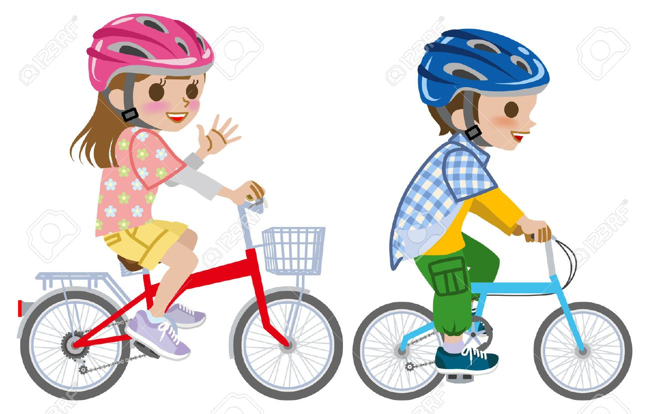 Riding a bike clipart 1 » Clipart Station.