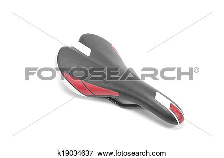 Picture of A bicycle seat isolated against a white background.