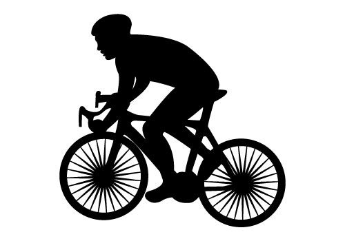 Here it is a Cycling Silhouette Vector to design awesome.