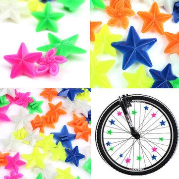 48pcs Bike Tricycle Wheel Spoke Colorful Star Decoration Bead.
