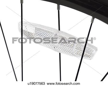 Drawing of Bicycle wheel reflector, close up. u19077563.