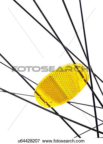 Stock Illustration of Bicycle wheel reflector, close up. u64428207.