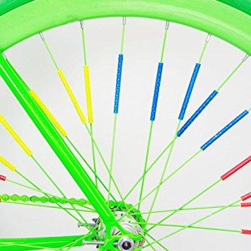 Set of 6 Unique Colour Reflective Bike Rim Banner Wheel Spoke.