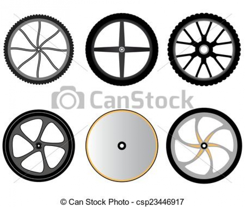 vector clip art of bicycle wheels without spokes wheels for For.