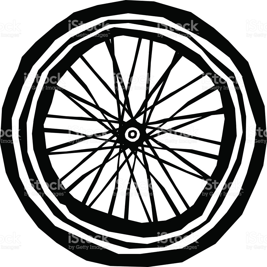 Bike Wheel stock vector art 472378755.