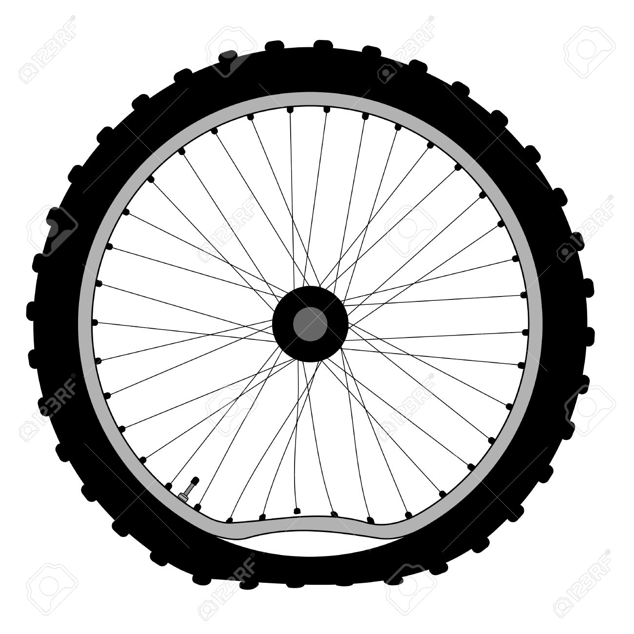 Vintage road bike tire clipart.