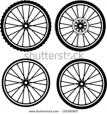 Vintage road bike tire clipart.