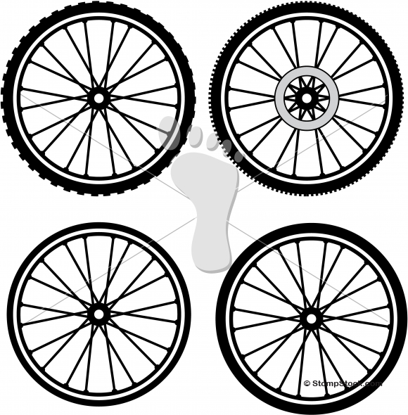 Spin Bike Wheel Clipart.